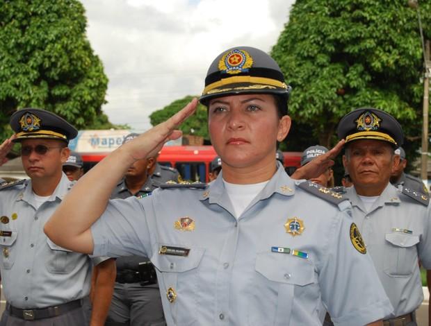 Coronel feminina é revelação no tiro prático e exemplo de vida no AP (Foto: Palmira Bittencourt/Arquivo Pessoal)