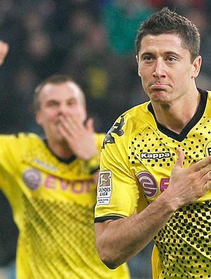 Robert Lewandowski gol Borussia Dortmund (Foto: Reuters)