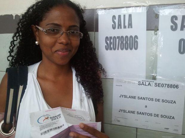 Sergipana vai fazer prova em sala especial (Foto: Marina Fontenele/G1 SE)