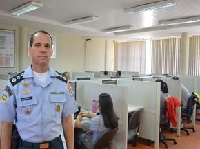 Major Linhares acredita que multas pesadas devem educar as pessoas que perturbam o sossego  (Foto: Marina Fontenele/G1)