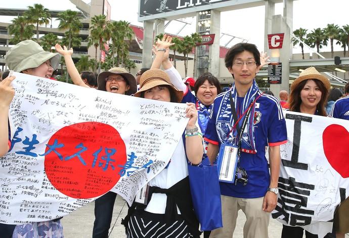 Torcida Japão amistoso contra a Costa Rica (Foto: Getty Images)