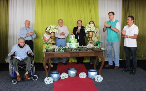 Membros da diretoria da Rede Amazônica celebram 44 anos da emissora (Foto: Katiúscia Monteiro/ Rede Amazônica)