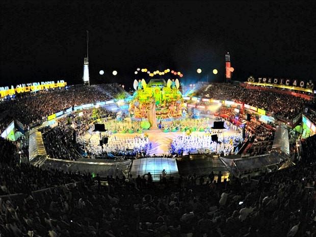 Previsão é que o Bumbódromo de Parintins passe a contar com 17,5 mil a partir do festival de 2013 (Foto: Alex Pazuello/Agecom)