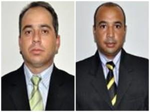 Vereadores Aguinaldo Costa (SD) (esq.) e José da Silva (PPS) (dir.) (Foto: Divulgação/ Câmara de Tejupá)