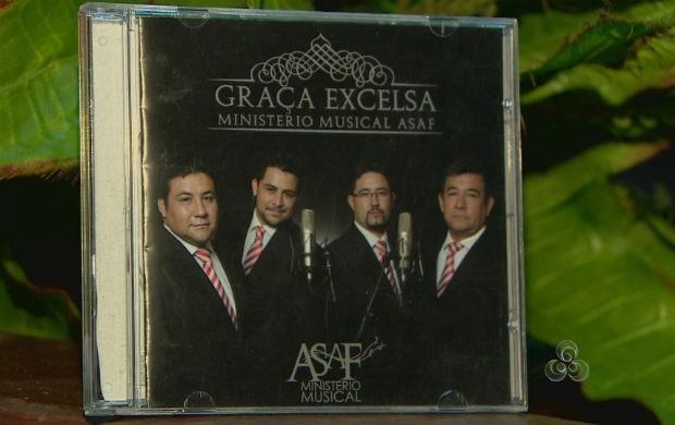 CD do Quarteto vocal Asaf. (Foto: Reprodução/TV Amapá)