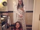 De férias em Budapeste, Tania Mara dança 'Gangnam Style' com a filha