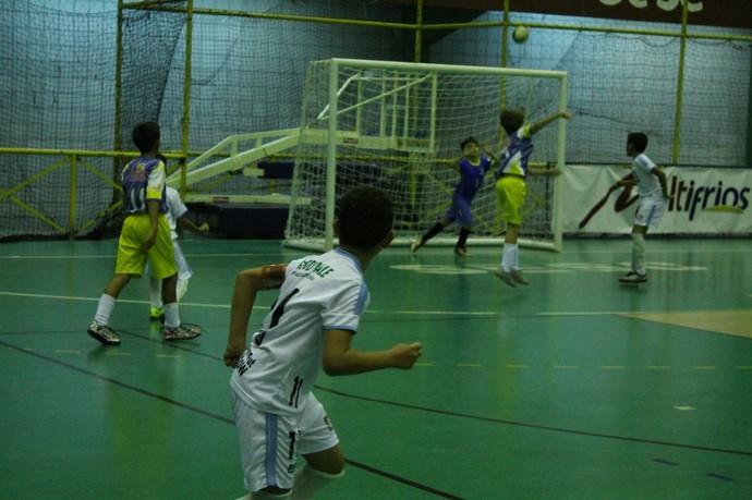 Colégio Saber x Encontro, Copa TV Grande Rio de Futsal (Foto: Emerson Rocha)