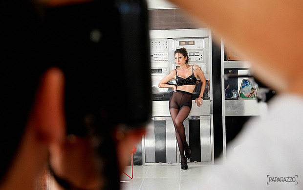 Paparazzo Lizi Benites - Making of (Foto: Alexandre Campbell/Paparazzo)