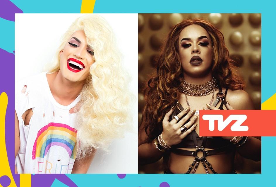 Aretuza Lovi e Gloria Groove apresentam o TVZ Ao Vivo nesta segunda-feira (4) (Foto: Divulgao)