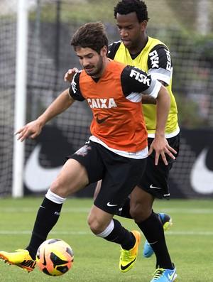 Pato treino do Corinthians (Foto: Daniel Augusto Jr. / Agência Corinthians)
