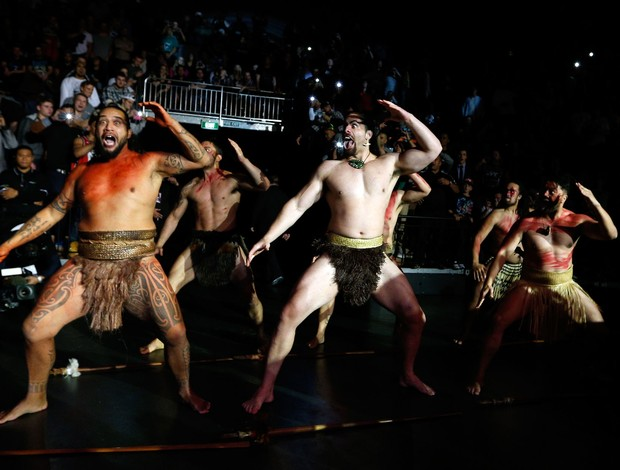 Entrada UFC James Te Huna haka (Foto: Agência Getty Images)