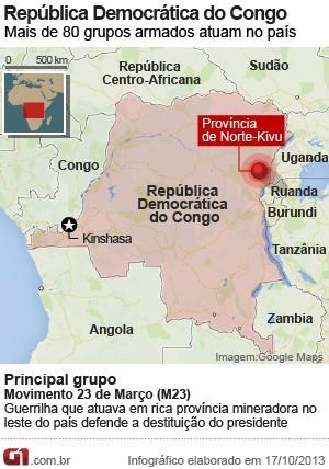 mapa congo vale certo (Foto: Arte G1)