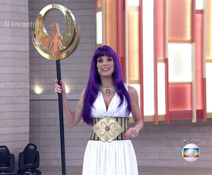 Ana Furtado de Atena, no 'Encontro' (Foto: TV Globo)