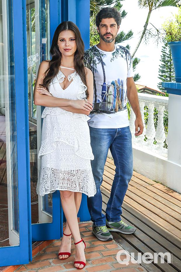 Bruno Cabrerizo e Vitória Strada (Foto: Daniel Janssens/ Ed.Globo)