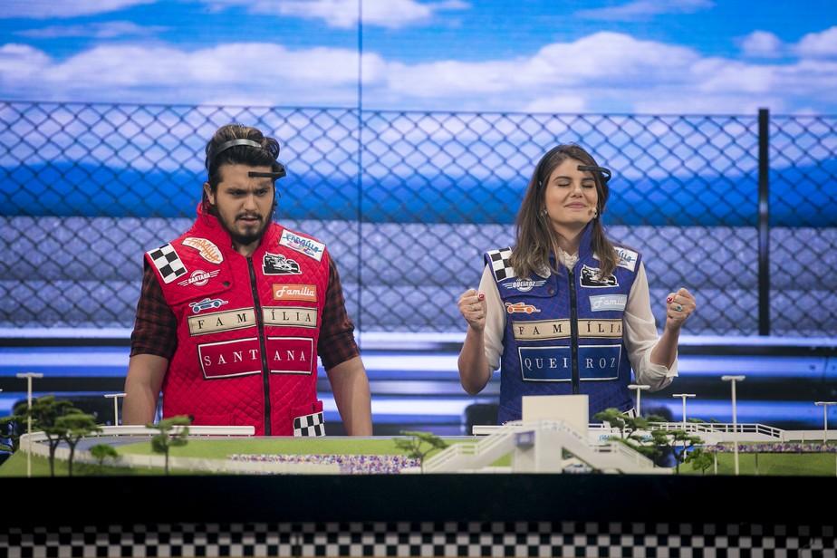 Camila Queiroz e Luan Santana usam poder da mente em prova no 'Tamanho Família'