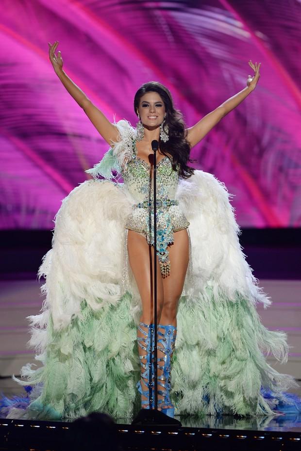 Melissa Gurgel na competição preliminar do Miss Universo, em Miami (Foto: AKM-GSI Brasil)