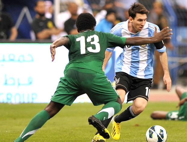 Messi, ARabia e Argentina (Foto: Agência AFP)