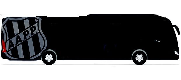 Layout do Gorilão, ônibus personalizado da Ponte Preta (Foto: Divulgação)