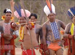 Karajás Jogos Mundiais dos Povos Indígenas (Foto: Reprodução/TV Anhanguera)