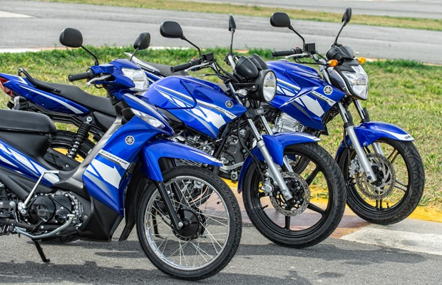 Yamaha Crypton, YBR e Fazer (Foto: Divulgação)