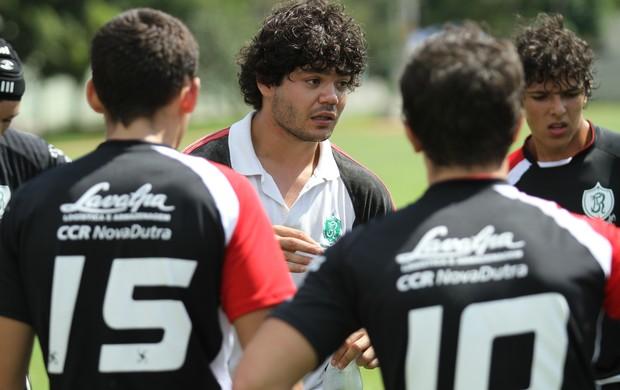 Júlio Faria em treino do Jacareí Rugby (Foto: Divulgação)