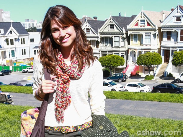Chandelly em San Francisco (Foto: Aline Kras/TV Globo)