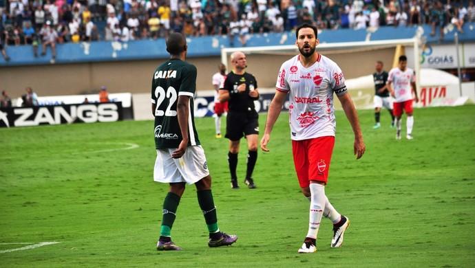 Frontini, atacante do Vila Nova (Foto: Marielly Dias/Vila Nova)