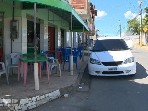 Rua onde estudante de 10 anos foi atropelado (Foto: Reprodução/ TV Gazeta)