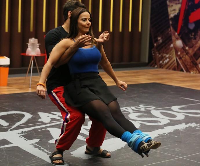 Viviane Araújo em ensaio do 'Dança' (Foto: Isabella Pinheiro / Gshow)
