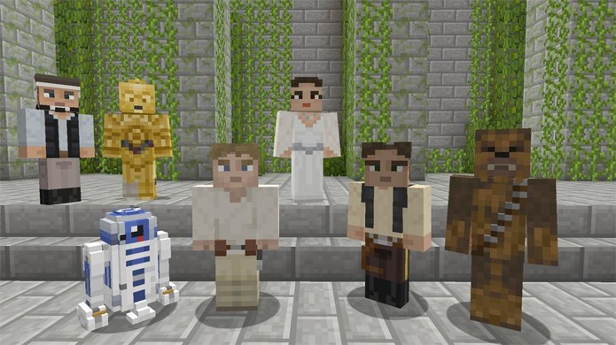 Pacote de skins traz personagens de Star Wars para Minecraft no Xbox One e Xbox 360 (Foto: Polygon)