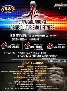 Cartaz da 1ª Etapa Caruaruense de Fisiculturismo e Fitness  (Foto: Divulgação)