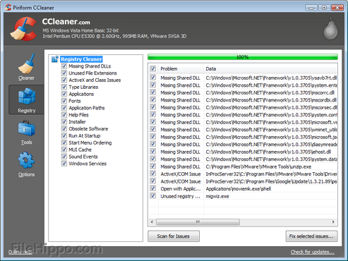 screenshot de CCleaner