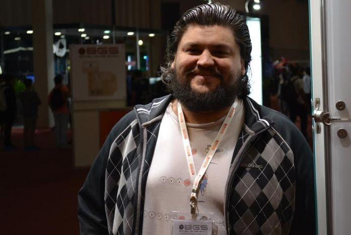 Orlando Fonseca Jr. nos contou sobre o primeiro jogo brasileiro para Gear VR (Foto: Pedro Zambarda/TechTudo)