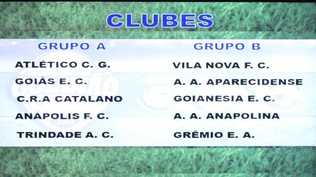 Sorteio dos grupos do Campeonato Goiano 2014 (Foto: Fernando Vasconcelos/Globoesporte.com)