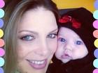 Sheila Mello comemora 3 meses da filha: 'A felicidade é grande'