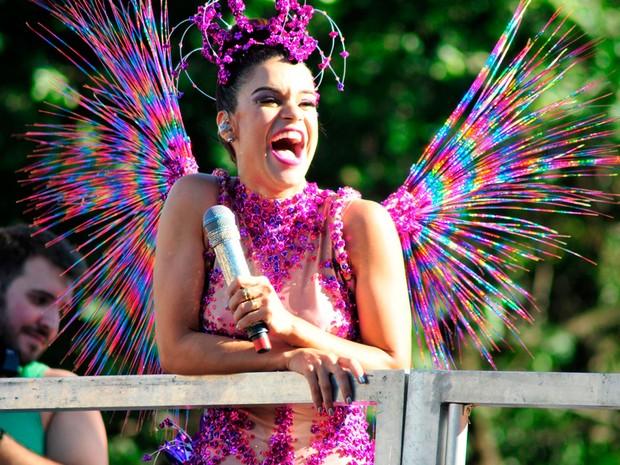 Mari Antunes no último dia desfile do Babado Novo no Carnaval de Salvador (Foto: Fábio Meneses/Ag Haack)