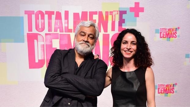 Paulo Halm e Rosane Svartman, os autores da novela Totalmente Demais (Foto: Globo/Estevam Avellar)