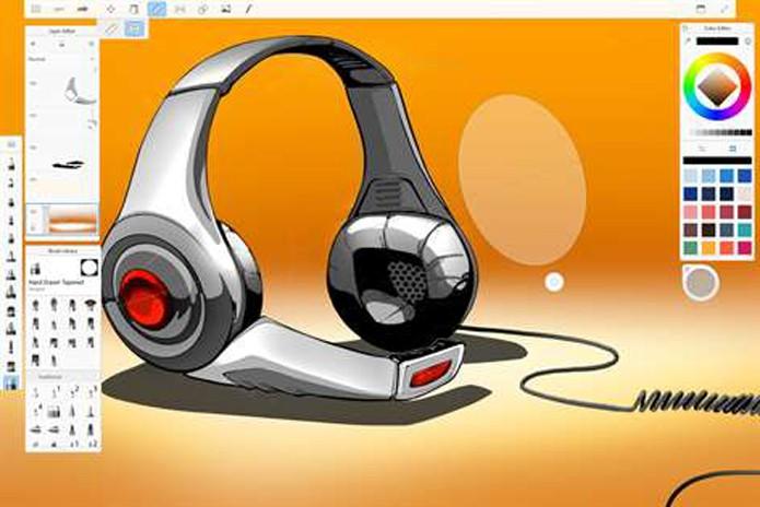Autodesk Sketchbook, app para Microsoft Ink (Foto: Reprodução/André Sugai)