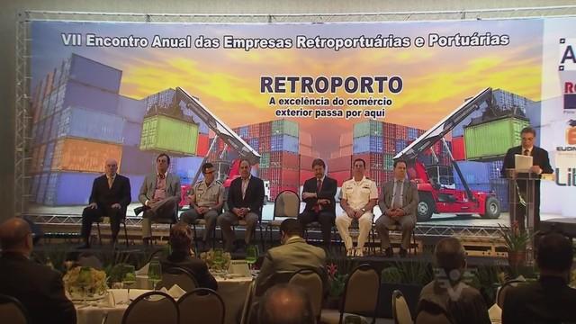 VII Encontro Anual da Associação Brasileira de Retroportuários (Foto: Reprodução/TV Tribuna)