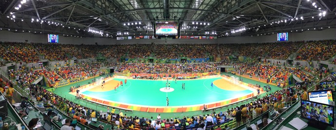 brasil x romênia arena do futuro olimpíada handebol (Foto: Edgard Maciel de Sá)