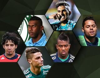 Carrossel Jogadores Palmeiras (Foto: Editoria de arte)
