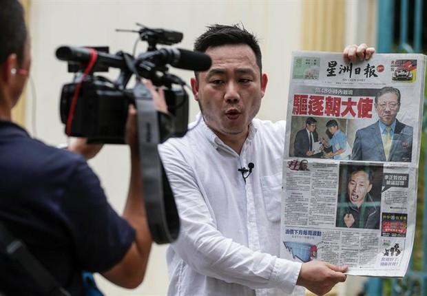 Na Malásia, repórter fala sobre expulsão do embaixador coreano no país (Foto: EFE)