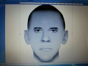 Retrato foi produzido com base nos relatos de testemunhas (Foto: Divulgação/Polícia Civil)
