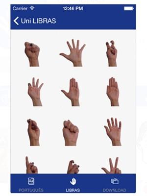 Aplicativo criado em Campinas facilita comunicação entre surdos (Foto: Reprodução/Apple Store)