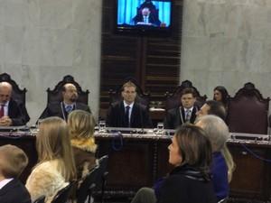 Camargo recebeu 27 dos 52 votos de parlamentares que participaram da eleição, no dia 15 de julho (Foto: Carolina Wolf / RPC TV)