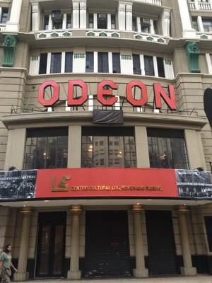 Nova fachada do Cine Odeon na Cinelândia, Centro do Rio (Foto: Divulgação/FSB Comunicação)