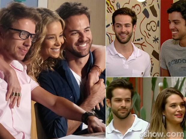 Bruno Dubeux em Amor à Vida (Esquerda) e em Malhação (Direita) (Foto: Gshow / TV Globo)