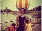 Juliana Paes posta foto com os filhos durante viagem: 'Fim das férias'