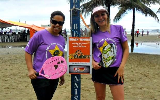 Dupla Eva e Fabiana em torneio de beach tennis em SP (Foto: Divulgação/Show de Bola comunicação)