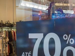 Loja do shopping de Mogi das Cruzes faz promoção (Foto: Lenina Velloso/Mogi Shopping)